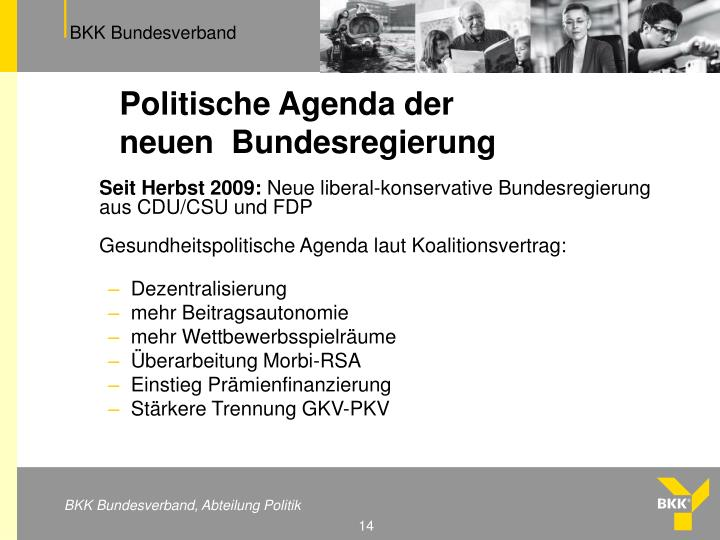 Politische Agenda der