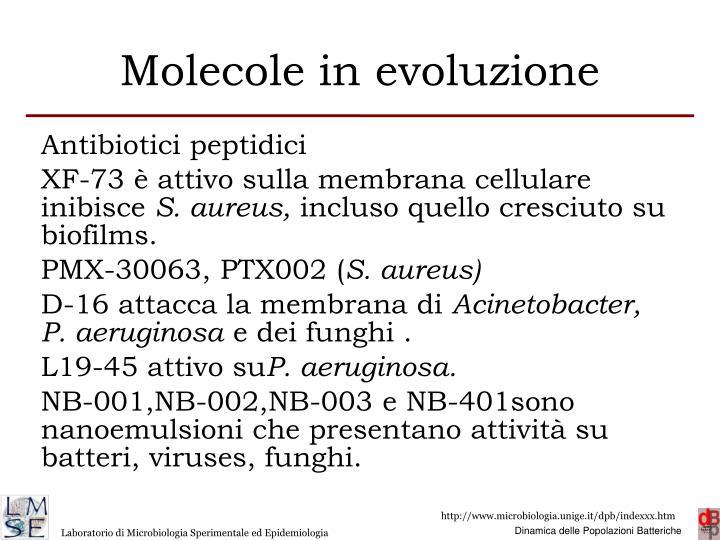 Molecole in evoluzione