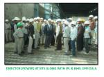 director power at site along with ipl bhel officials