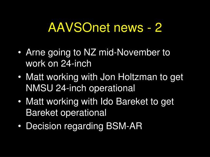 AAVSOnet news - 2