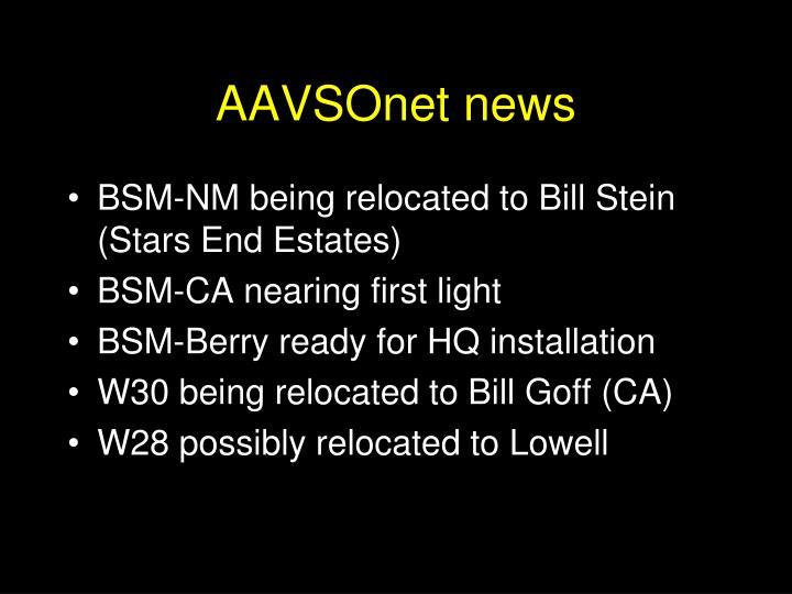 AAVSOnet news