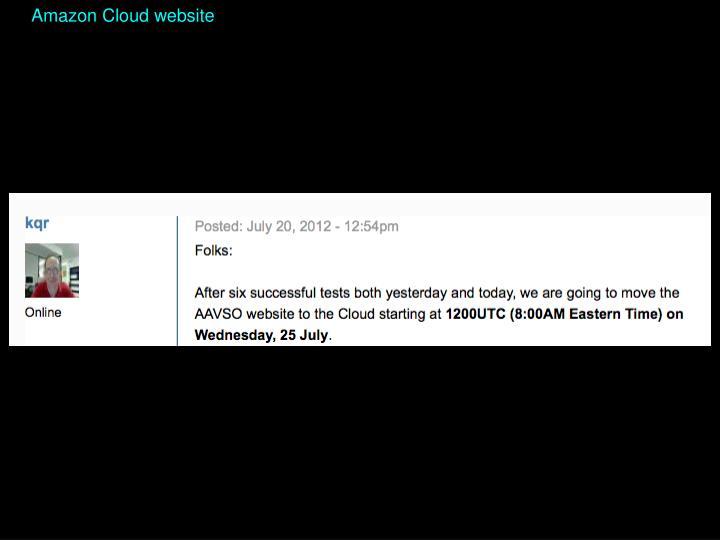 Amazon Cloud website