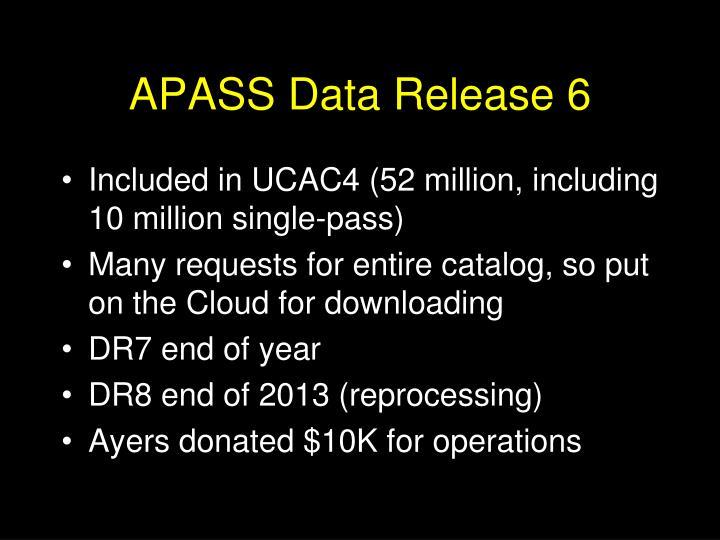 APASS Data Release 6