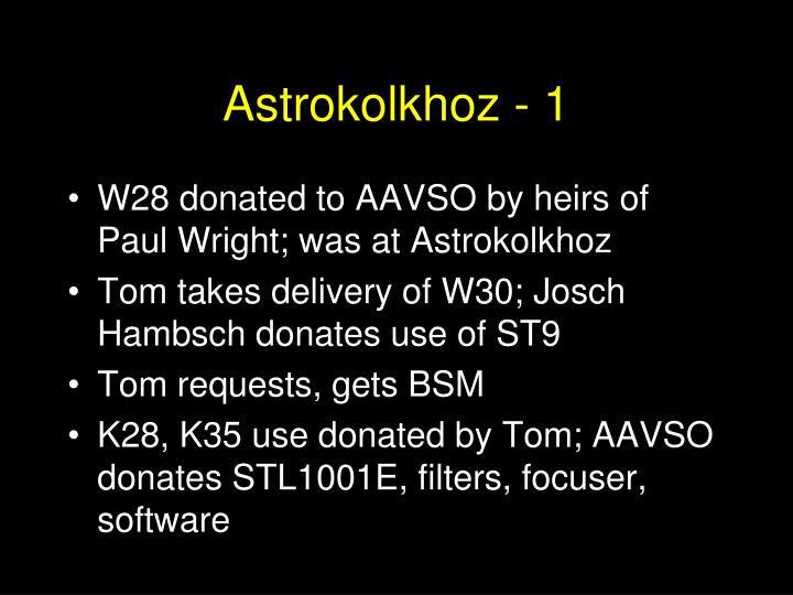 Astrokolkhoz - 1