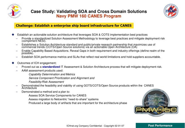 Case Study: Validating SOA and Cross Domain Solutions