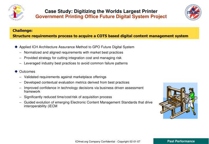 Case Study: Digitizing the Worlds Largest Printer