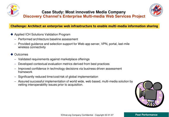 Case Study: Most innovative Media Company