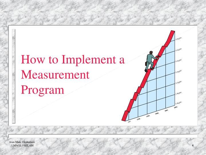 How to implement a measurement program