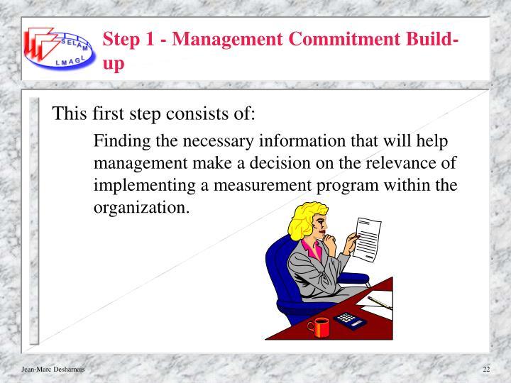 Step 1 - Management Commitment Build-up