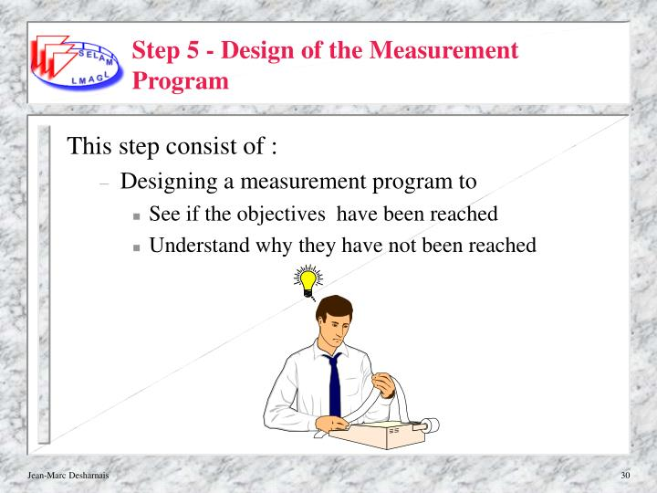 Step 5 - Design of the Measurement Program
