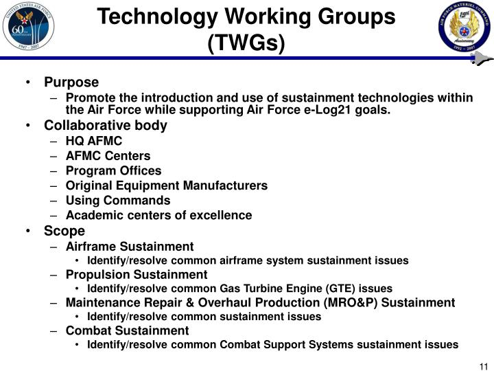 Technology Working Groups (TWGs)