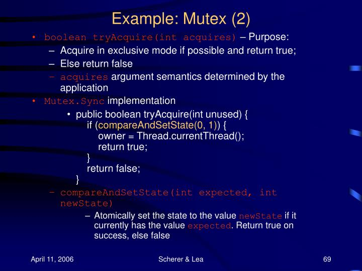 Example: Mutex (2)