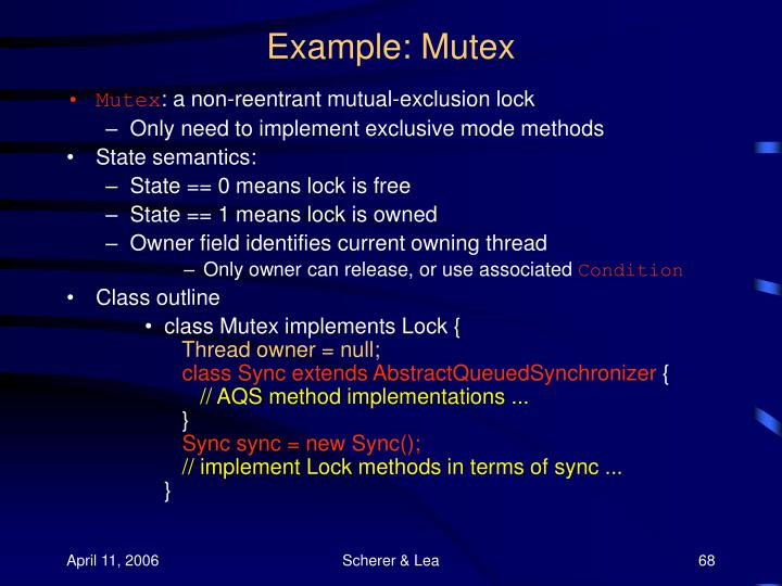 Example: Mutex