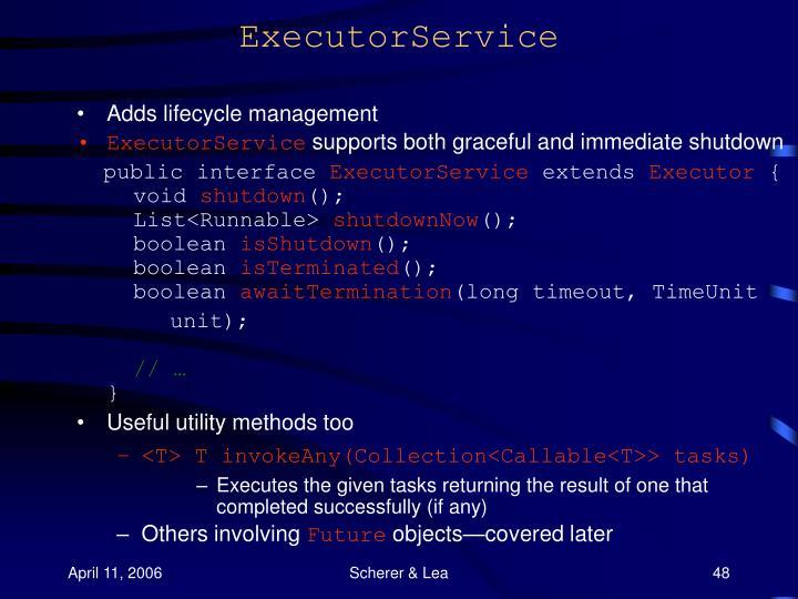 ExecutorService