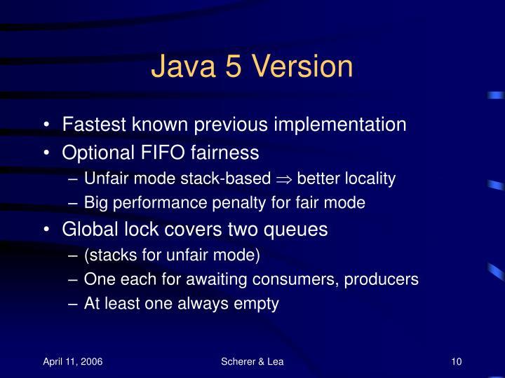 Java 5 Version