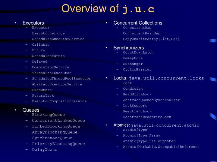 Overview of j u c