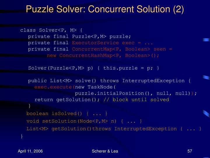 Puzzle Solver: Concurrent Solution (2)