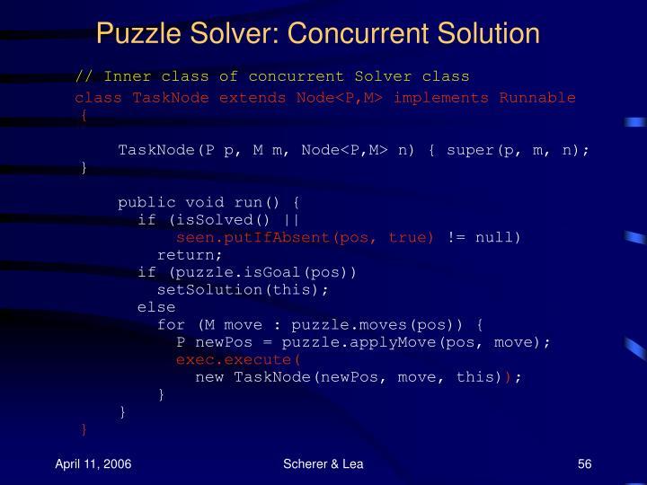 Puzzle Solver: Concurrent Solution
