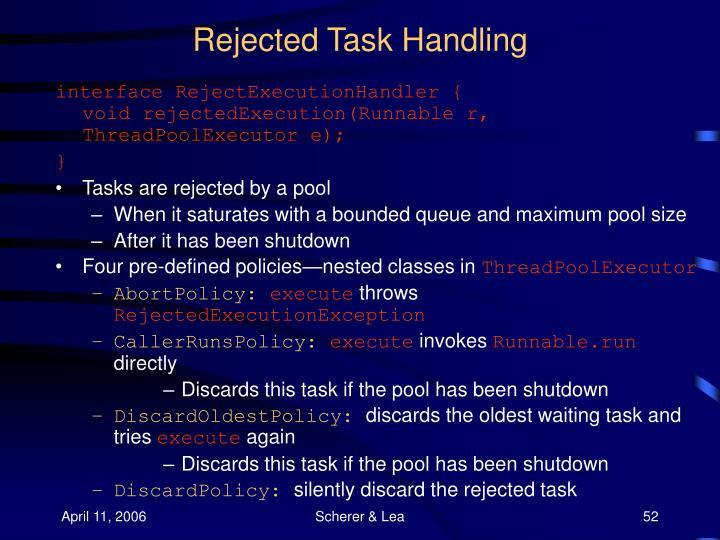 Rejected Task Handling