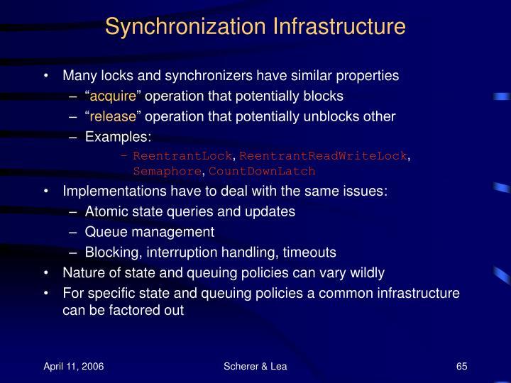 Synchronization Infrastructure