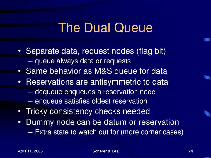 The Dual Queue