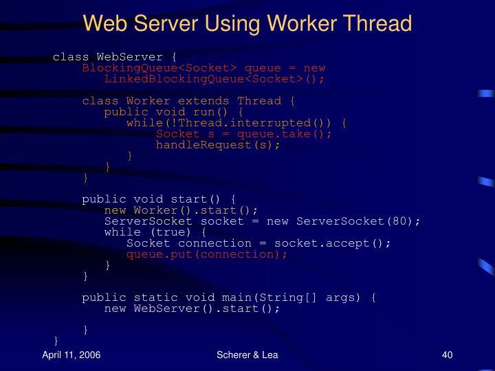 Web Server Using Worker Thread