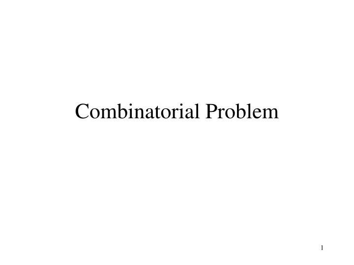 combinatorial problem n.