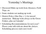 yesterday s meetings