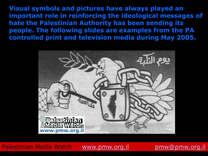 Visual symbols and pictures have always played an important role in reinforcing the ideological mess...