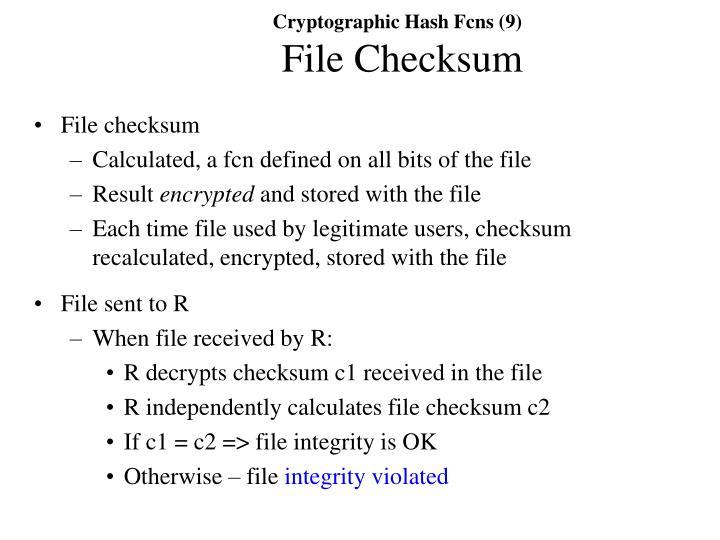 Cryptographic