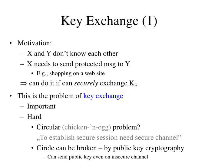 Key Exchange (1)