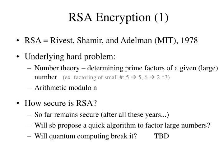 RSA Encryption (1)