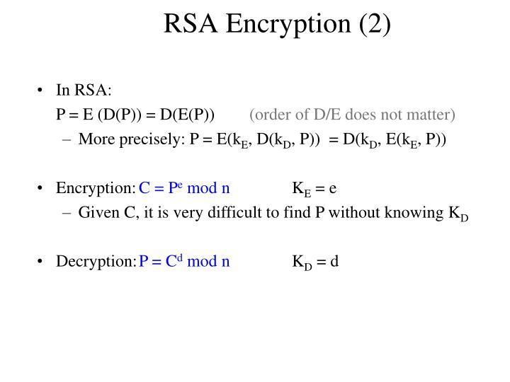 RSA Encryption (2)