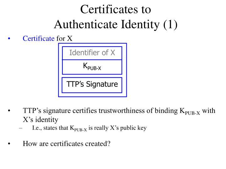 Certificates t