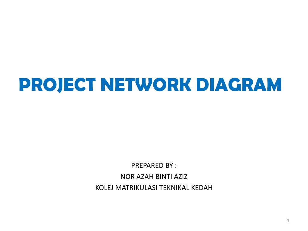 project network diagram - powerpoint ppt presentation