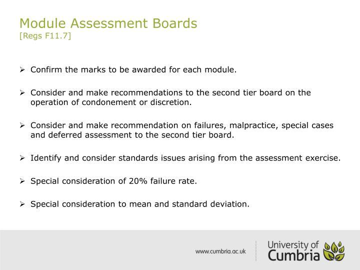 Module assessment boards regs f11 7