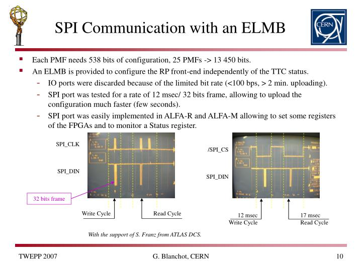 SPI Communication with an ELMB