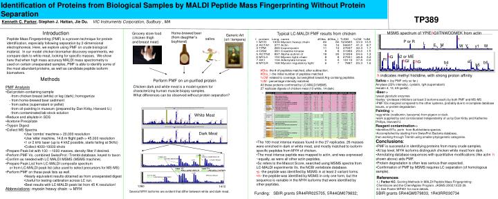 Identification of Proteins from Biological Samples by MALDI Peptide Mass Fingerprinting Without Prot...