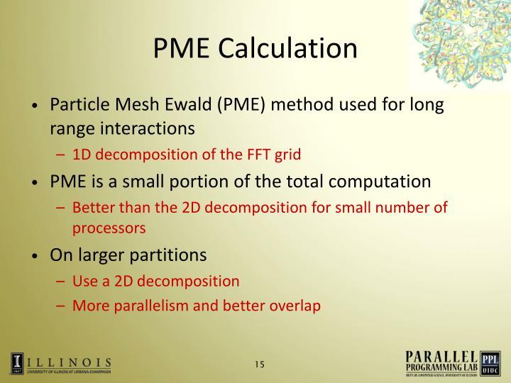 PME Calculation