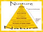 nurture ways we are less like people