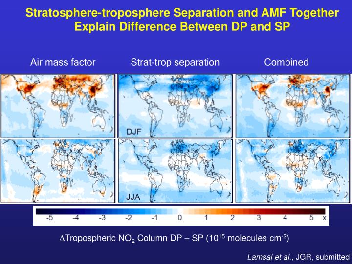 Stratosphere-troposphere Separation and AMF Together Explain Difference Between DP and SP