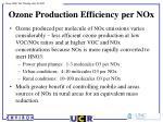 ozone production efficiency per nox
