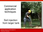 commercial application techniques