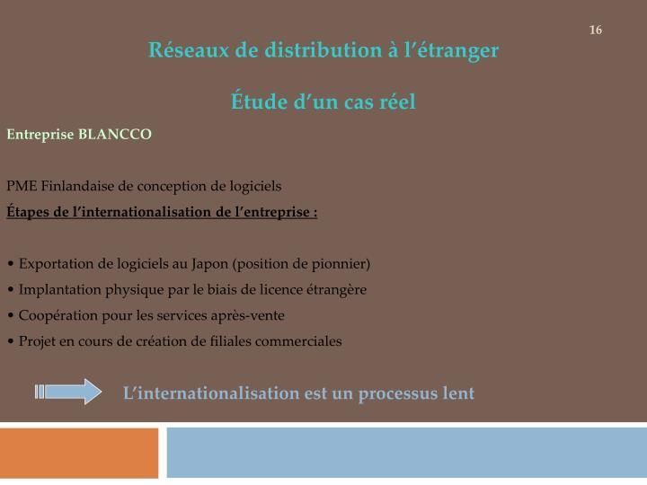 Réseaux de distribution à l'étranger