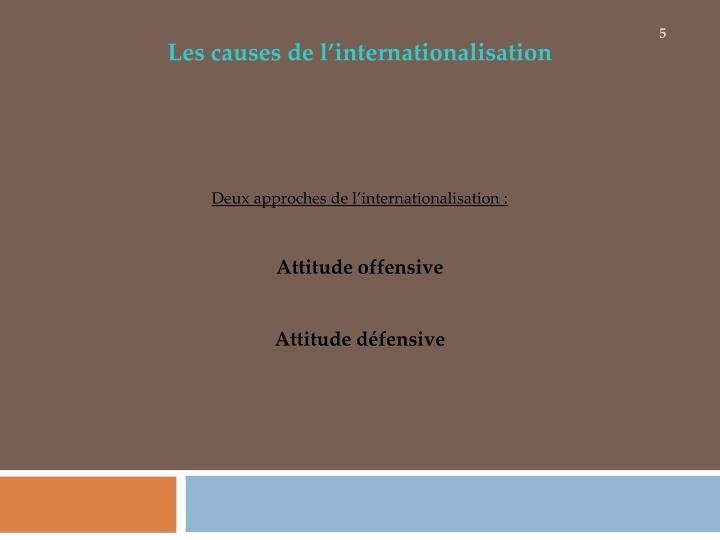 Les causes de l'internationalisation