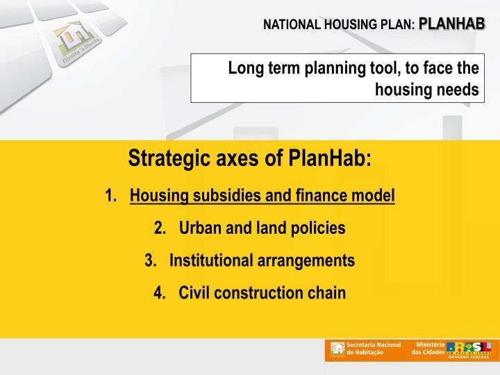 NATIONAL HOUSING PLAN: