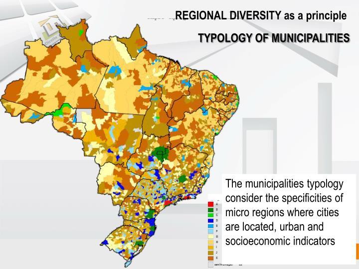 REGIONAL DIVERSITY as a principle
