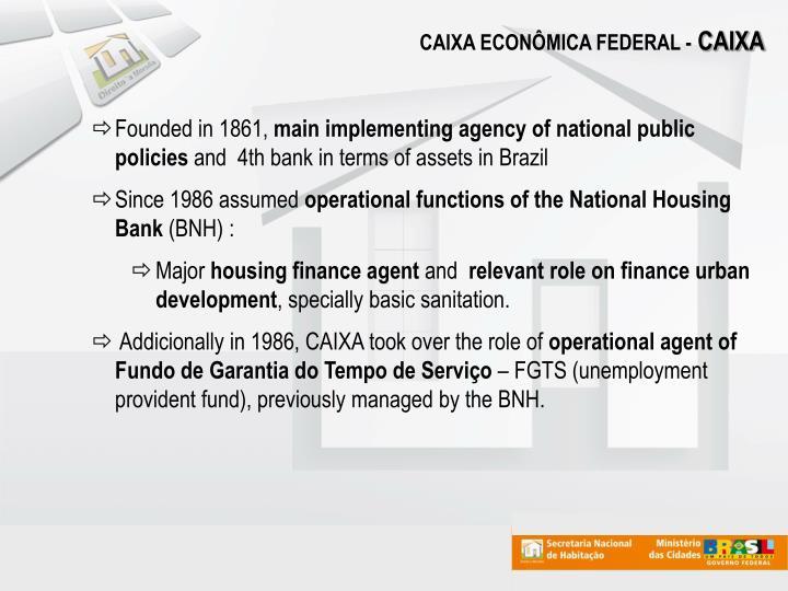 CAIXA ECONÔMICA FEDERAL -