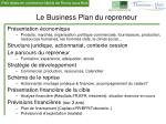 le business plan du repreneur