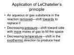 application of lechatelier s principle2